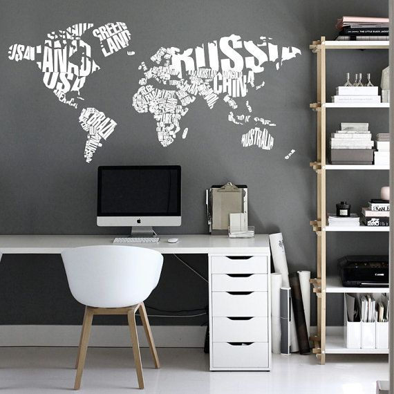 Typography world map country names world map decal large world typography world map country names world map decal large world map vinyl wall sticker world map wall sticker gumiabroncs Images