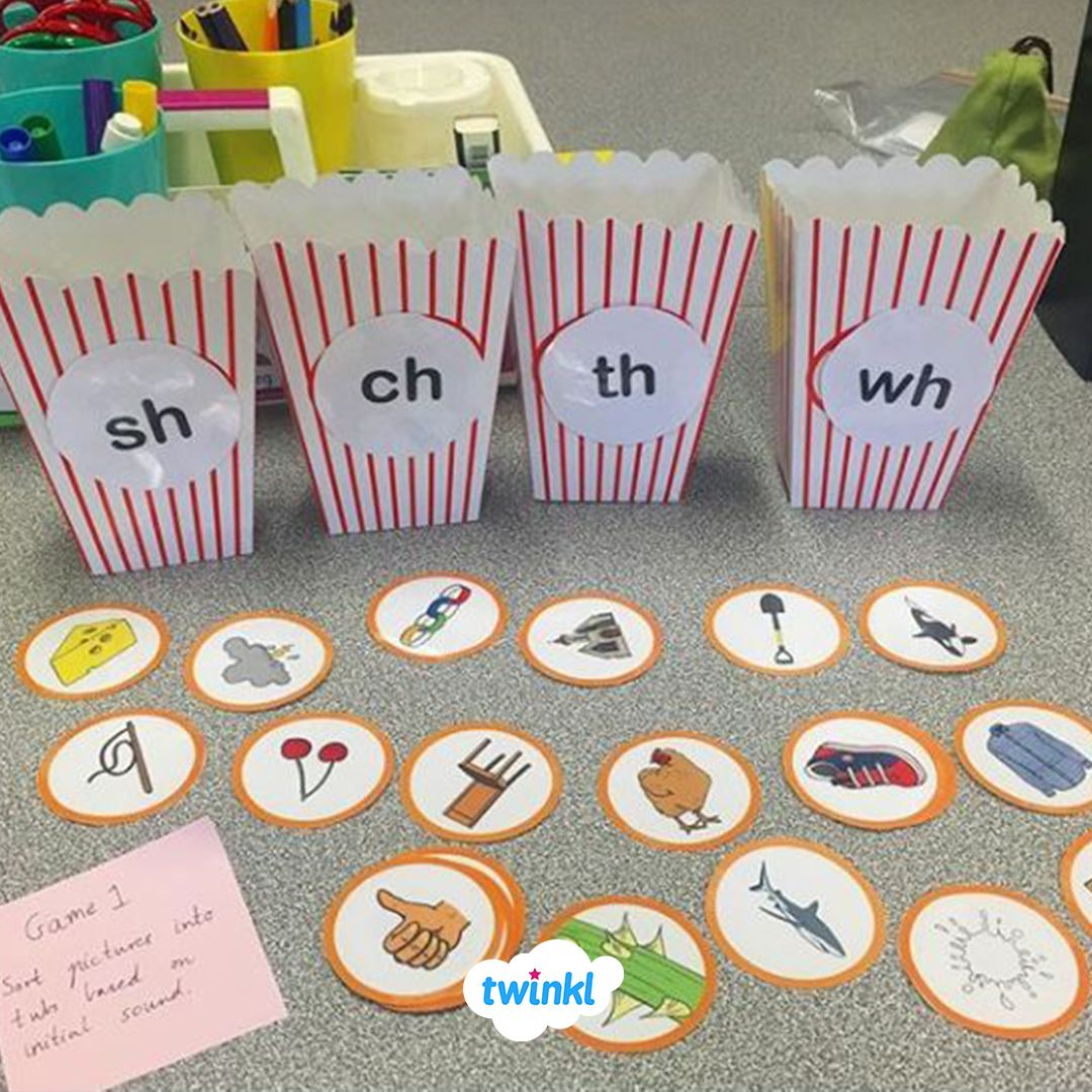 Word Work Station Consisting Of Cvc Words Digraph Split