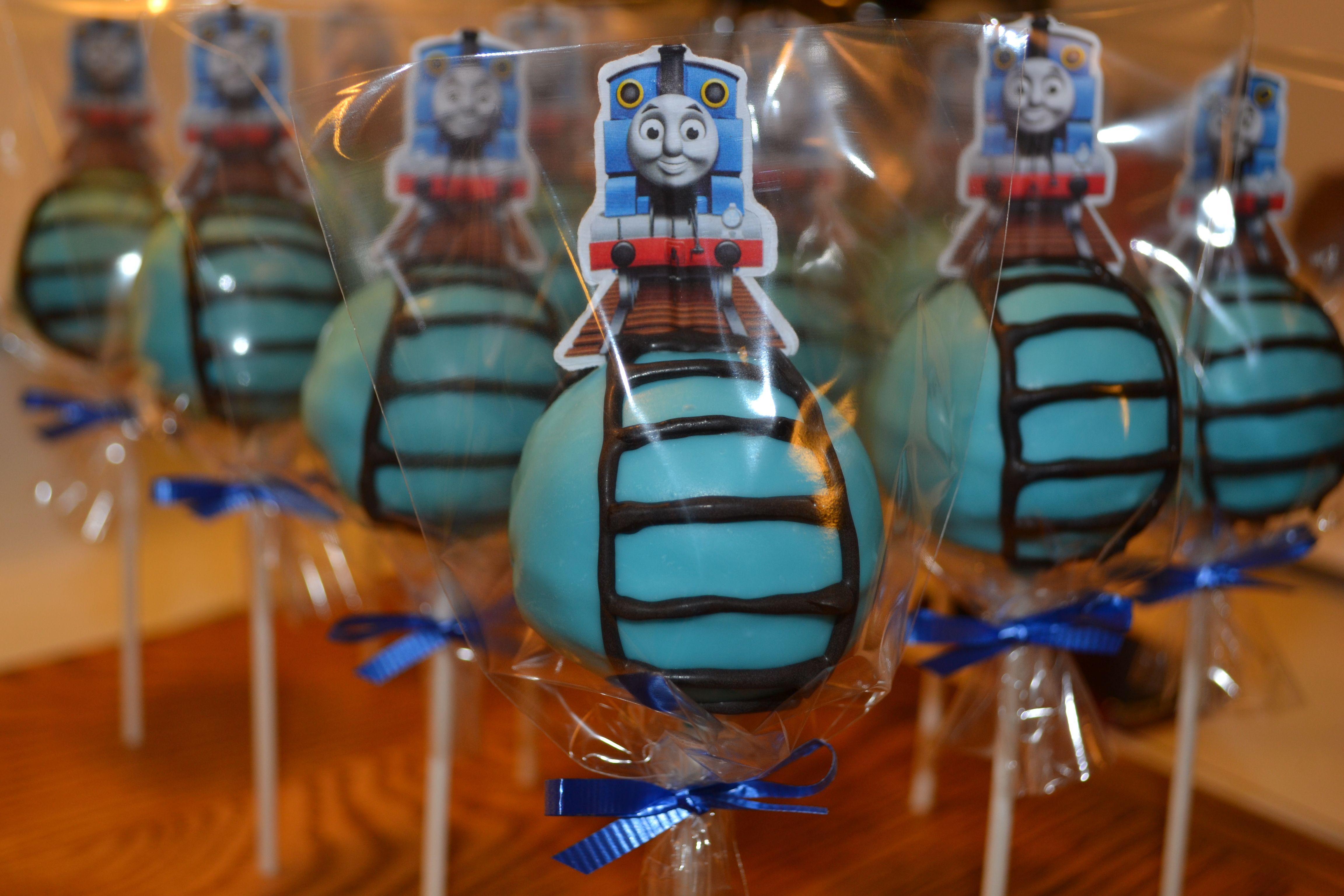 Thomas The Train Cake Pops Thomas Party Pinterest