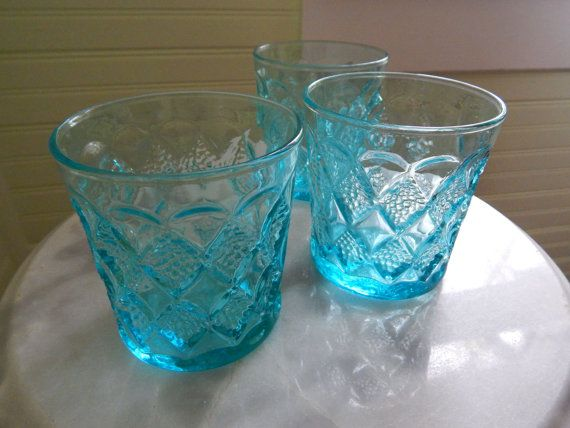 Fabulous Molded Glasses with Textured by JayBirdsVintageShop