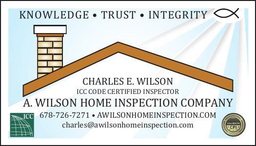 KNOWLEDGE - TRUST - INTEGRITY    CHARLES E. WILSON  ICC CODE CERTIFIED INSPECTOR    charle... | A. Wilson Home Inspection - Statham, GA #georgia #HartwellGA #shoplocal #localGA