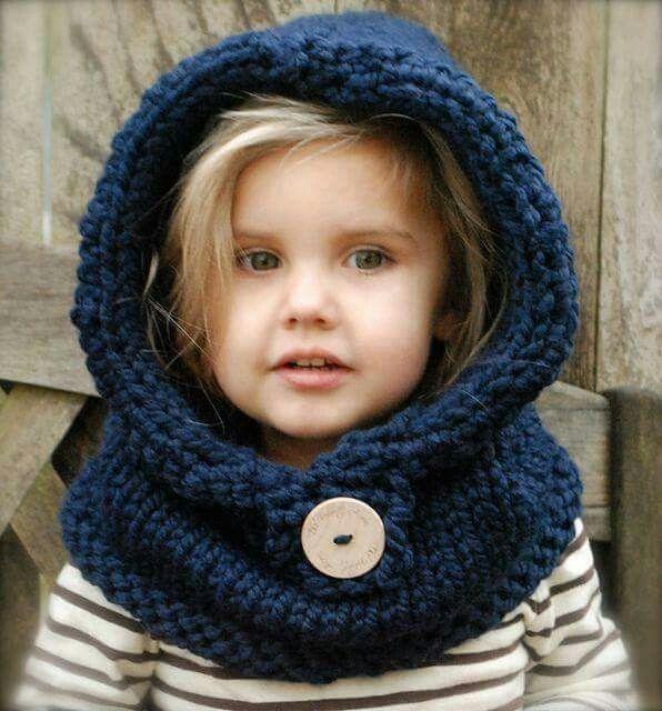 Gorro azul | Like | Pinterest | Hooded cowl, Crochet pattern free ...