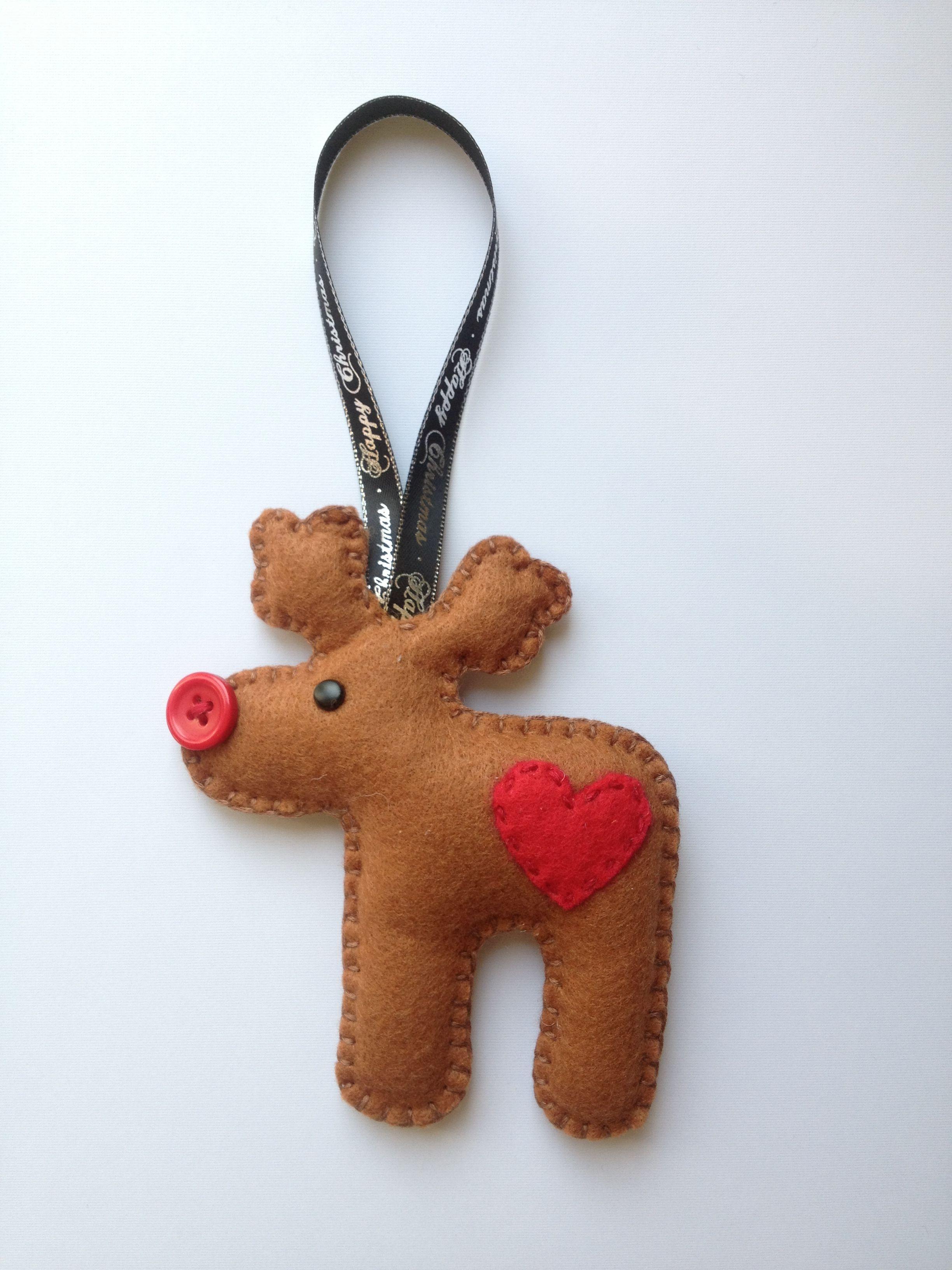 Felt Reindeer By Bethany Looijenga Christmas Ornaments Christmas Reindeer