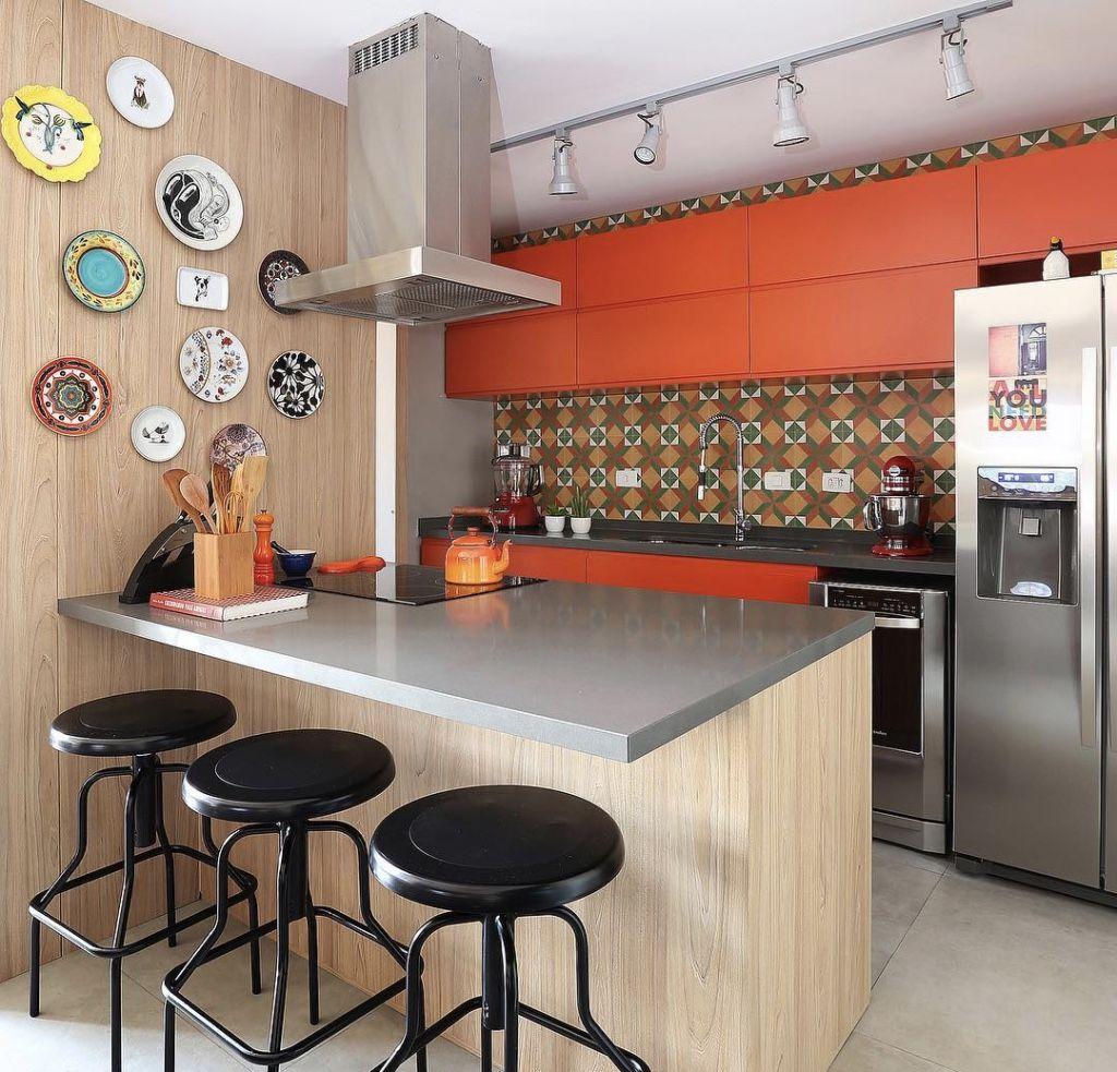 Imagem De Cozinha Americana Pequena Elegant Decorao De Cozinha