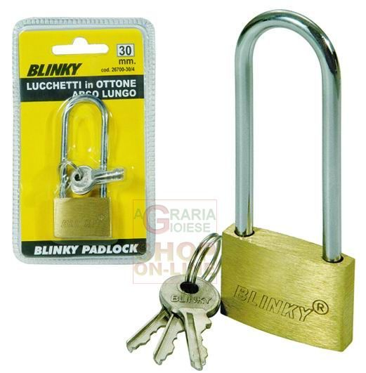 BLINKY LUCCHETTO IN OTTONE 3617 ARCO LUNGO MM. 40 http://www.decariashop.it/lucchetti/21105-blinky-lucchetto-in-ottone-3617-arco-lungo-mm-40.html