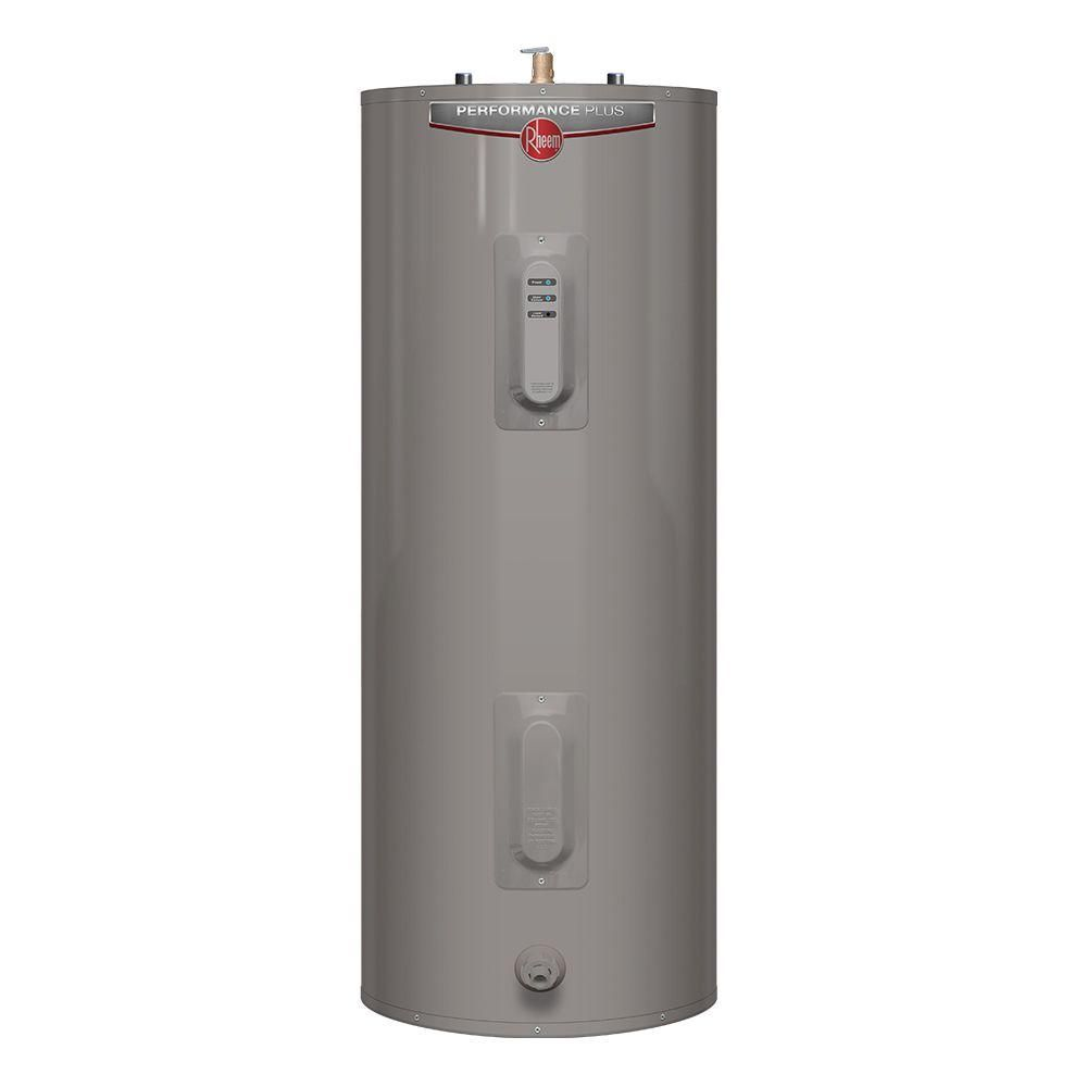 Rheem Performance Plus 50 Gal Medium 9 Year 5500 5500 Watt Elements Electric Tank Water Heater With Led Indicator Xe50m09el55u1 Water Heater Electric Water Heater Water Heater Repair