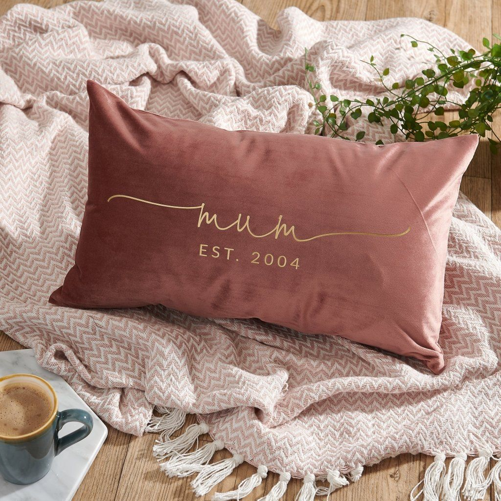 Personalised Mum Velvet Cushion