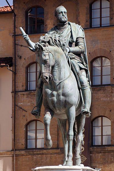 Giambologna (1529-1608), Equestrian portrait of Cosimo I (1519-1574), Italian,1594,bronze, Piazza della Signoria