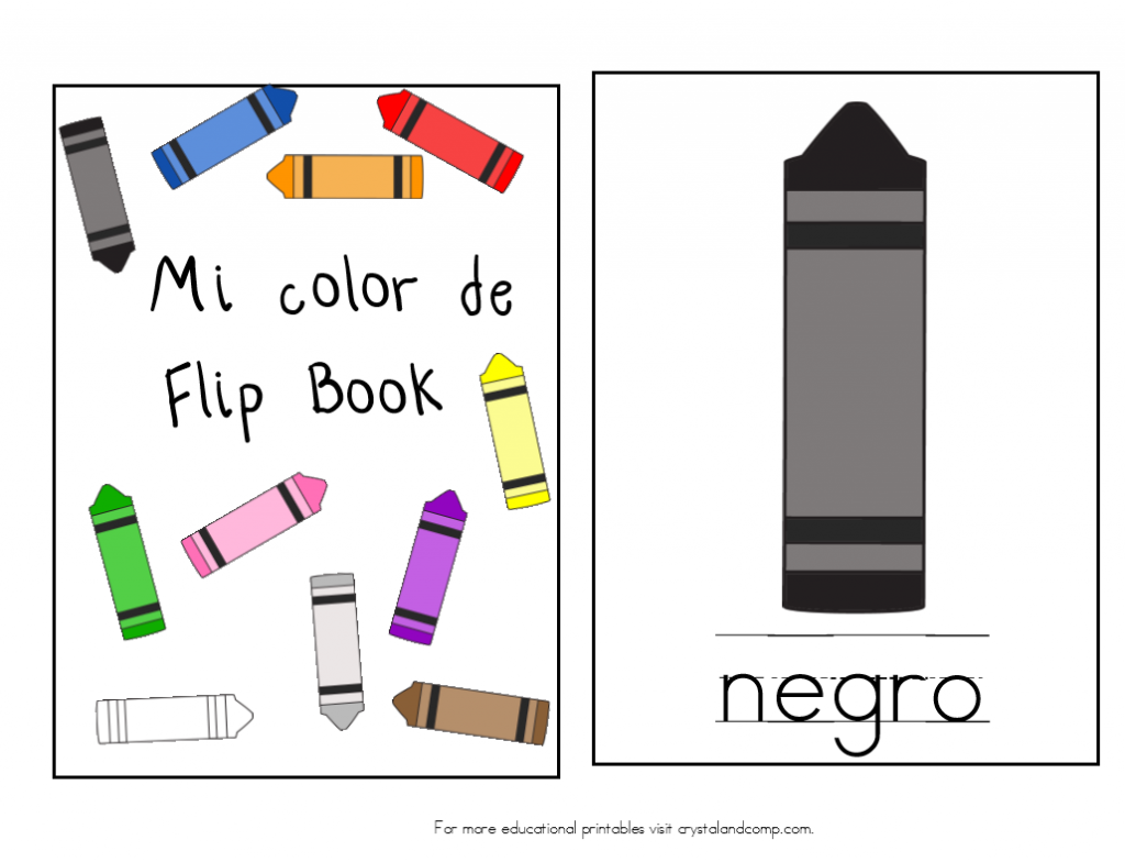 Teach Colors to Kids in Spanish Flip Book Teaching