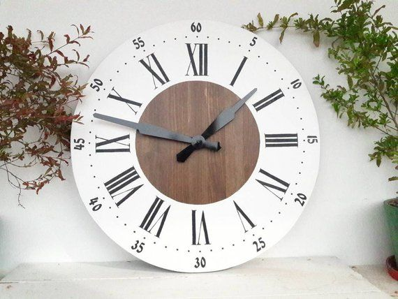 rustic kitchen clock inexpensive flooring large wall 20 inch decor for living room ready to ship
