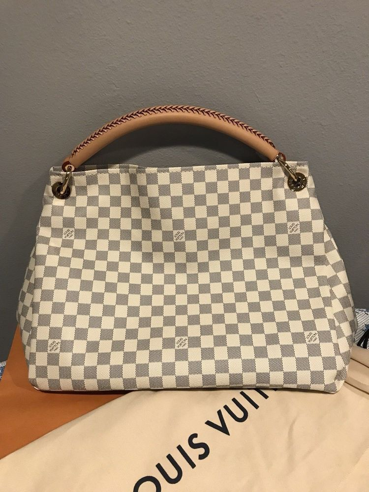 f646dd9afdb4 Louis Vuitton Artsy MM Damier Azur Canvas Handbag