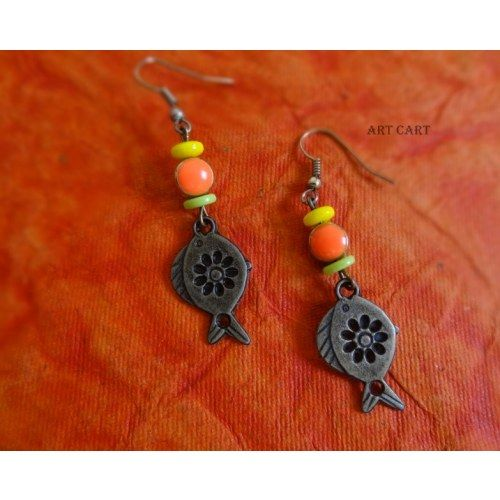 Neon Fish Earrings Online Ping For By Art Cart