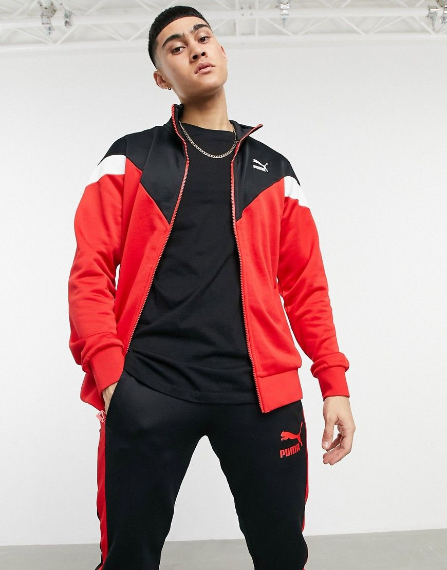 Puma Iconic track jacket in red
