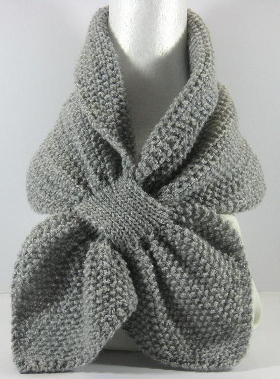 (6) Name: 'Knitting : Moss Stitch Keyhole Scarflette ...