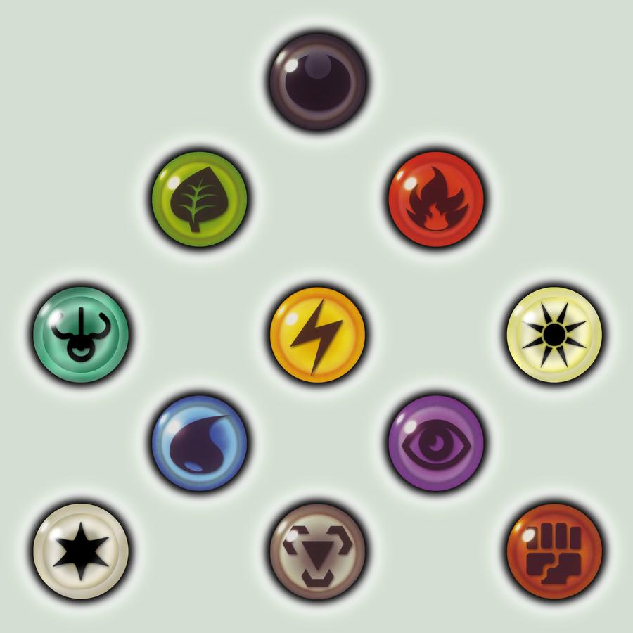 Card Energy Icons By Pokemon Lanino Game Card Design Game Icon Pokemon Elements