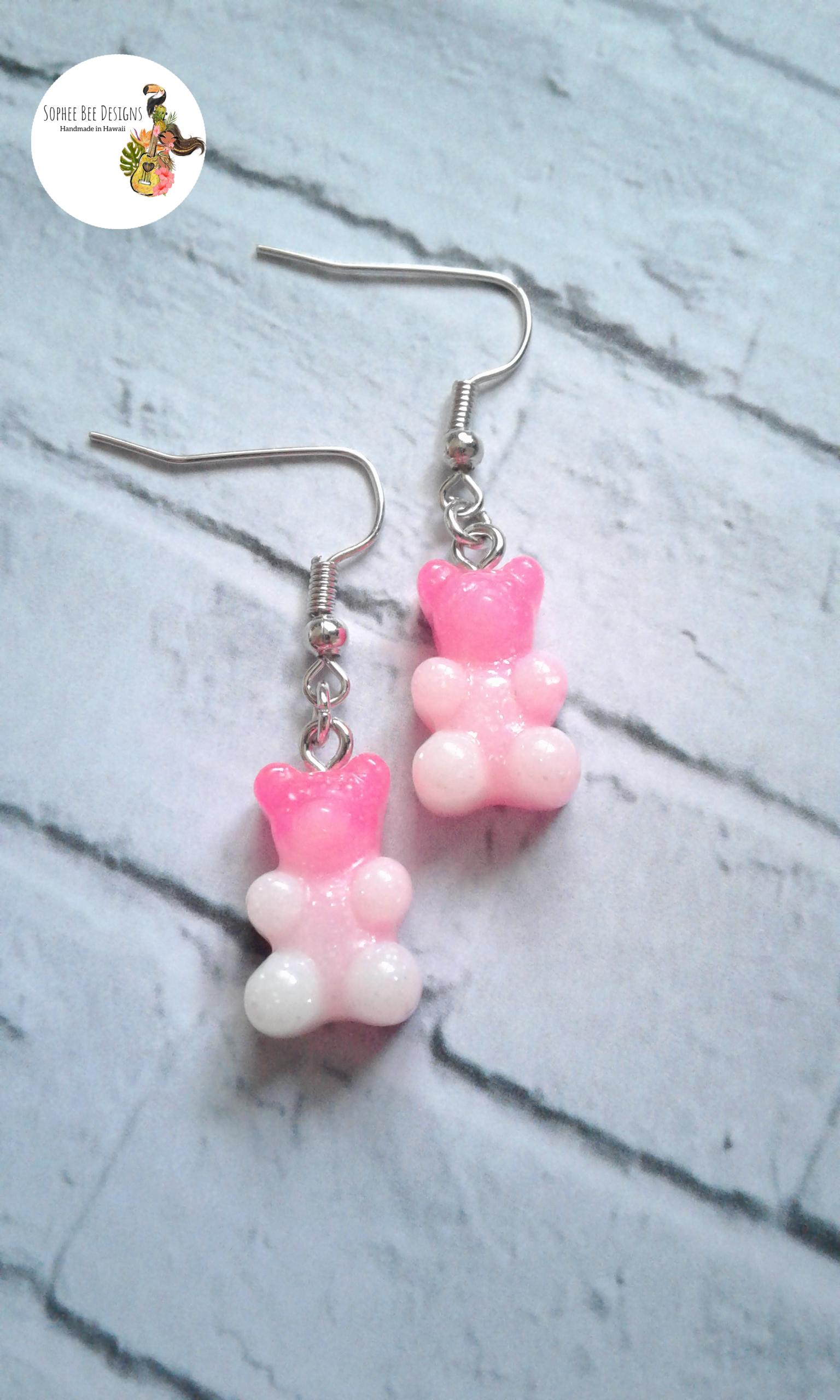 OMBRE GUMMY BEAR Candy Earrings