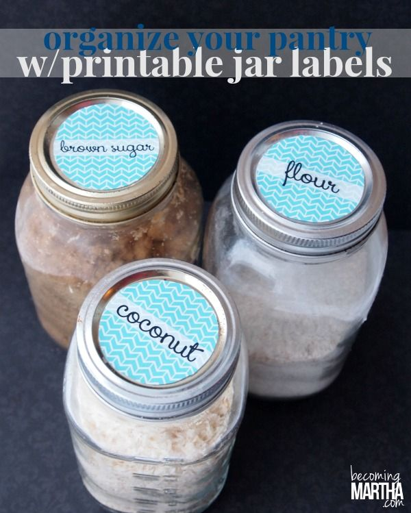 Make organizing your pantry a breeze with these Printable Mason Jar