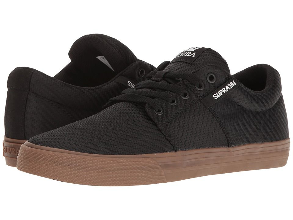 Skate shoes SUPRA SUPRA STACKS VULC II BLACK WOVENGUM MENS