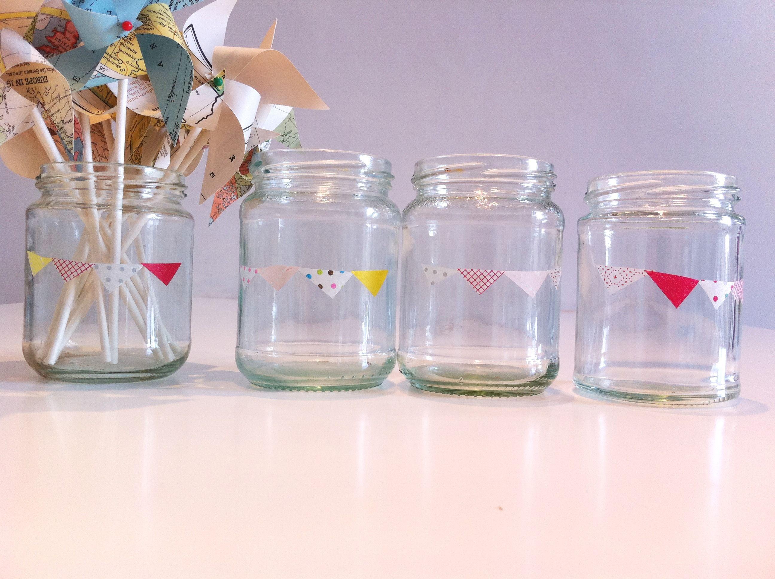 Decorating Jelly Jars I Do Diyjam Jars With Bunting And Hearts Washi Tape  Washi