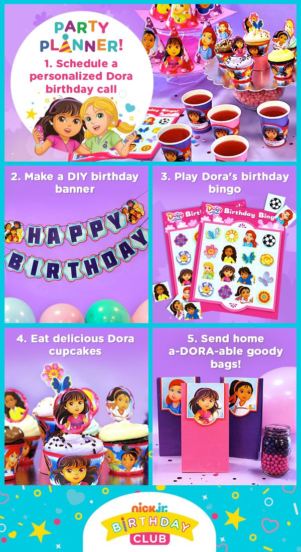 Plan the perfect Dora and Friends birthday party Dora Party