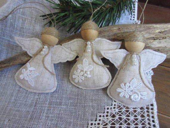 Angel Christmas Ornament Handmade Angel Tree di Mydaisy2000