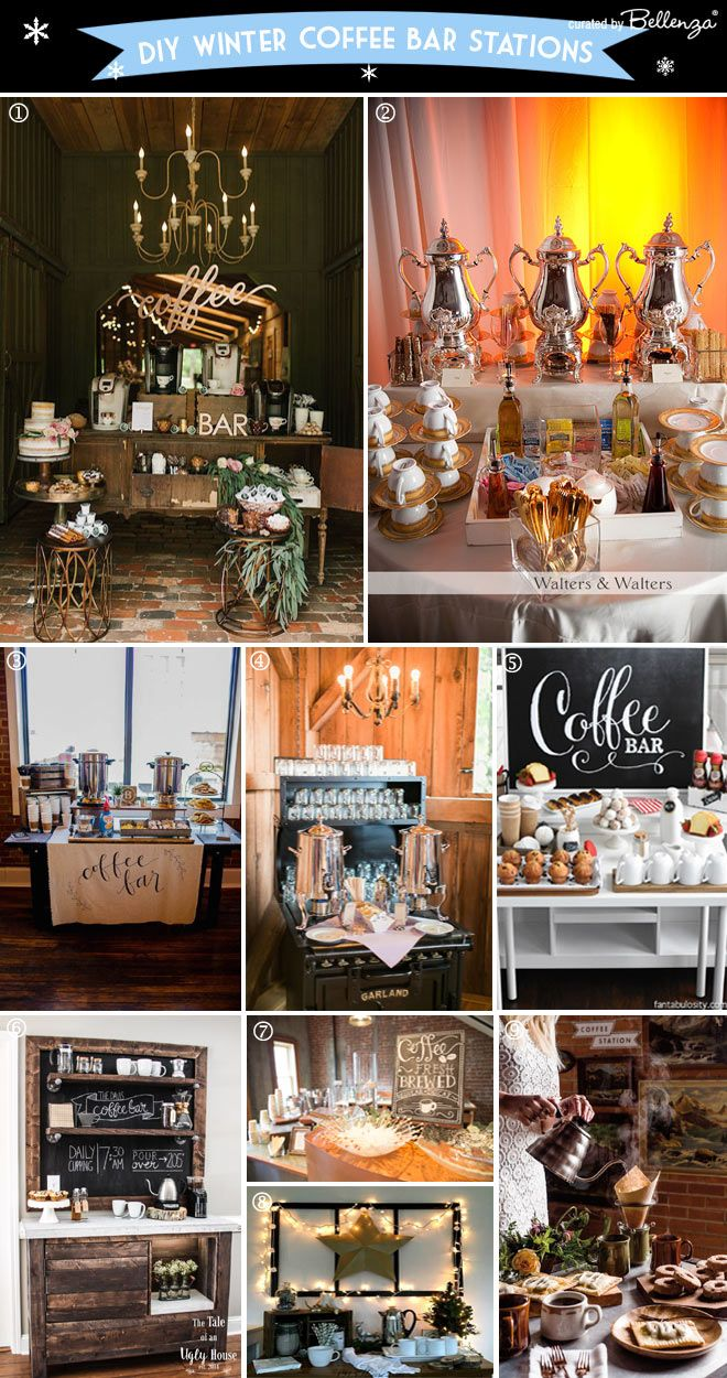 How to set up a coffee bar at a winter wedding winter weddings