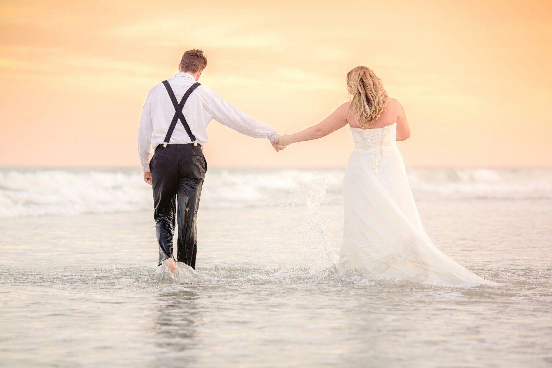 Myrtle Beach Trash The Dress Florida Beach Wedding Beach Wedding Beach Wedding Makeup