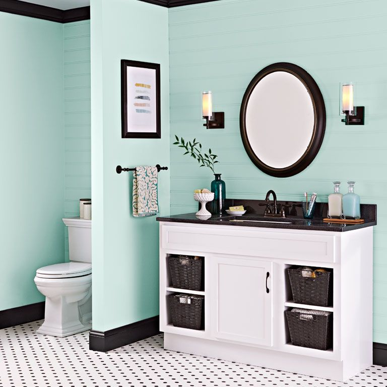 Transform A Vanity With Paint Bathroom Color Schemes Painting Bathroom Cabinets Bathroom Paint Colors