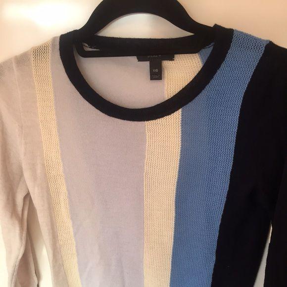 J.crew color block sweater!!! 100%merino wool crewneck