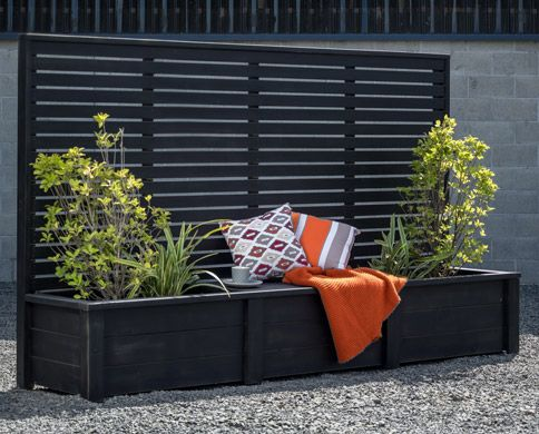 Planter Combo Planter Box With Trellis Privacy Planter