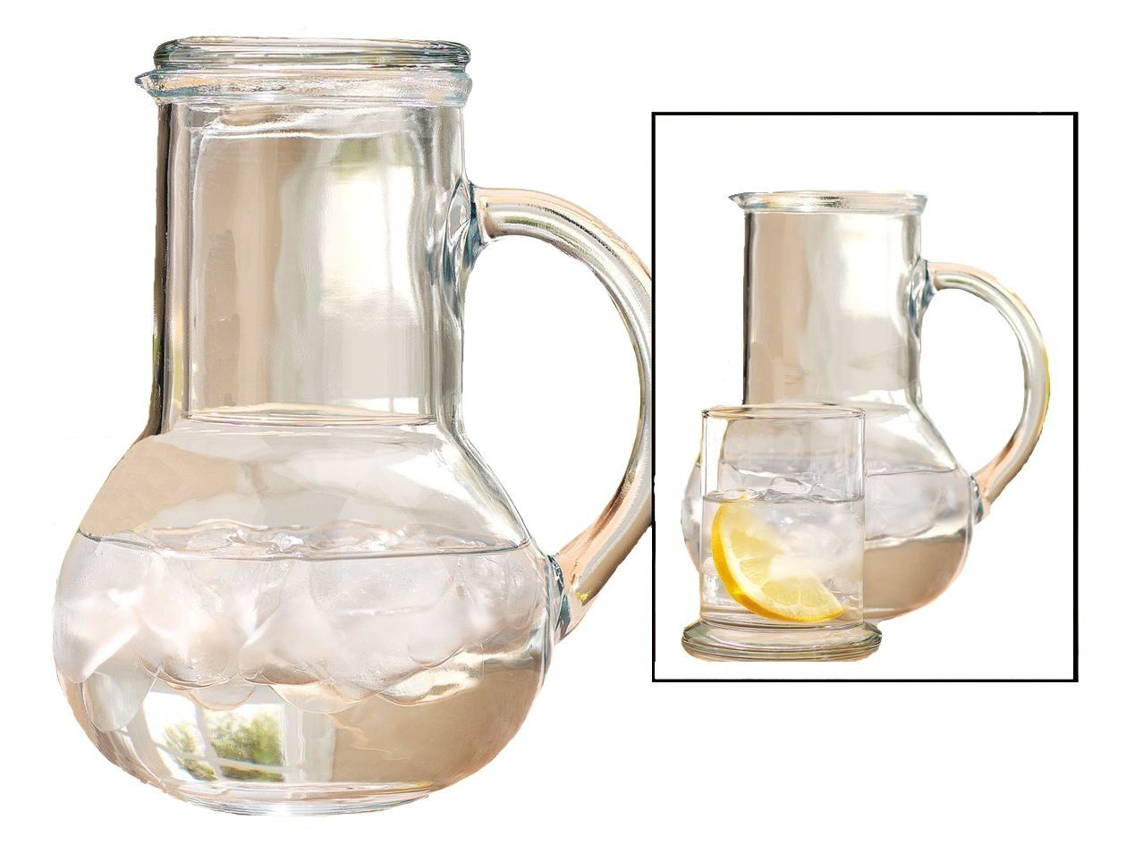 Amazon Com Clear Glass Bedside Water Carafe With Lid That Converts Into Drinking Glass Pitcher And Tumbler Kitchen Carafe Set Bedside Carafe Glass Carafe