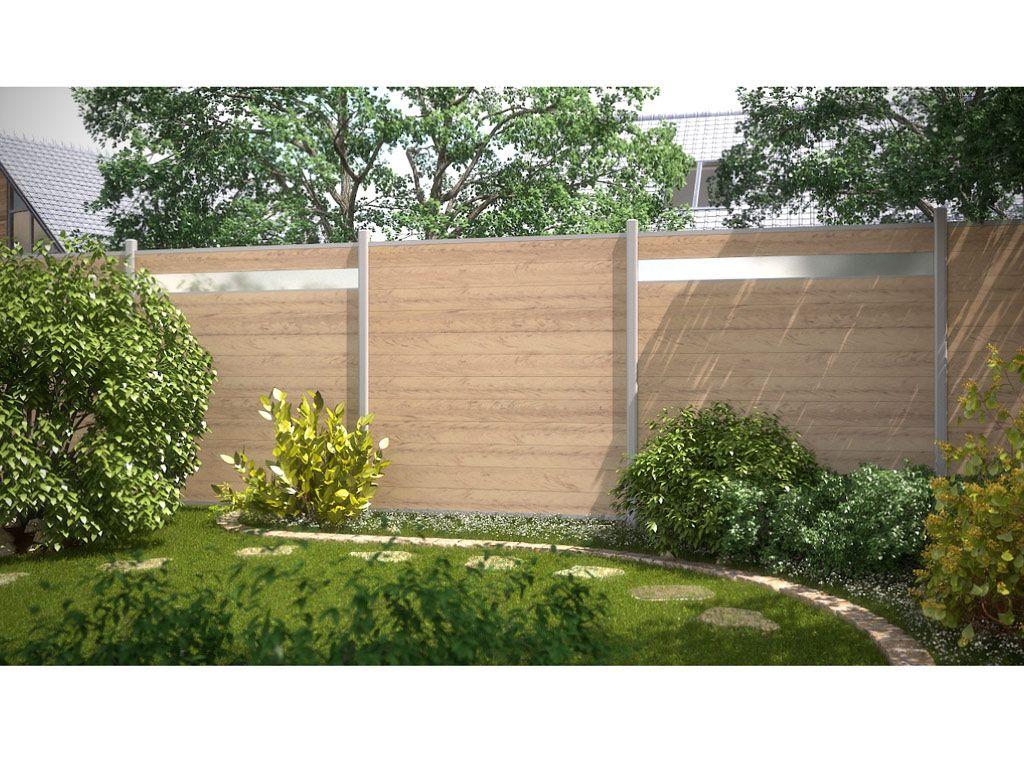 Tor System Wpc Sand Anthrazit Mit Metallrahmen Sichtschutz Garten Traumgarten Garten