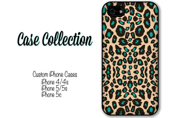 leopard print iPhone Case iPhone 4 4s 5 5s 5c di CaseCollection, $15.99