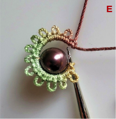 A Tatting Technique to Try: Mock Ring With Bead in Center