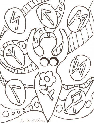 Goddess Coloring Page Coloring Pages Coloring Books Wiccan Crafts