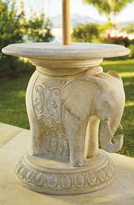 Beautiful Elephant Umbrella Table
