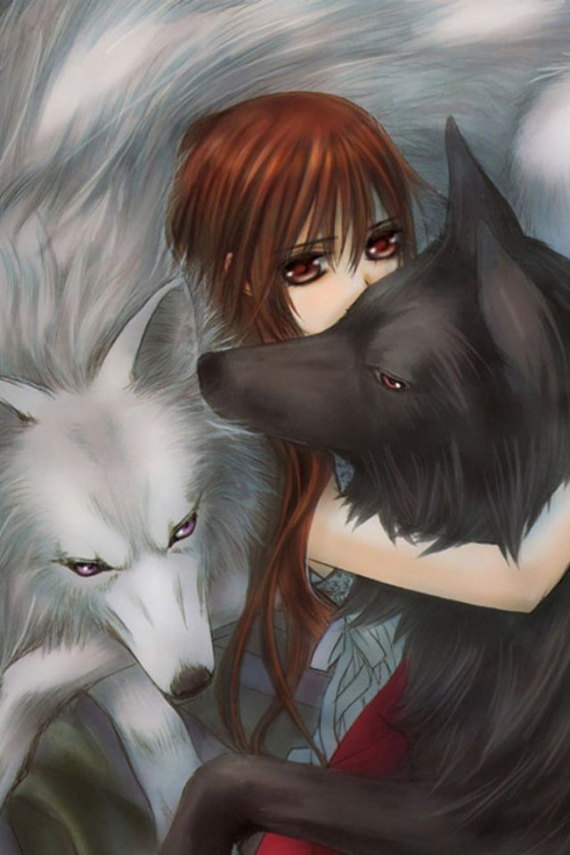 Yuki with Zero and Kaname in wolf form