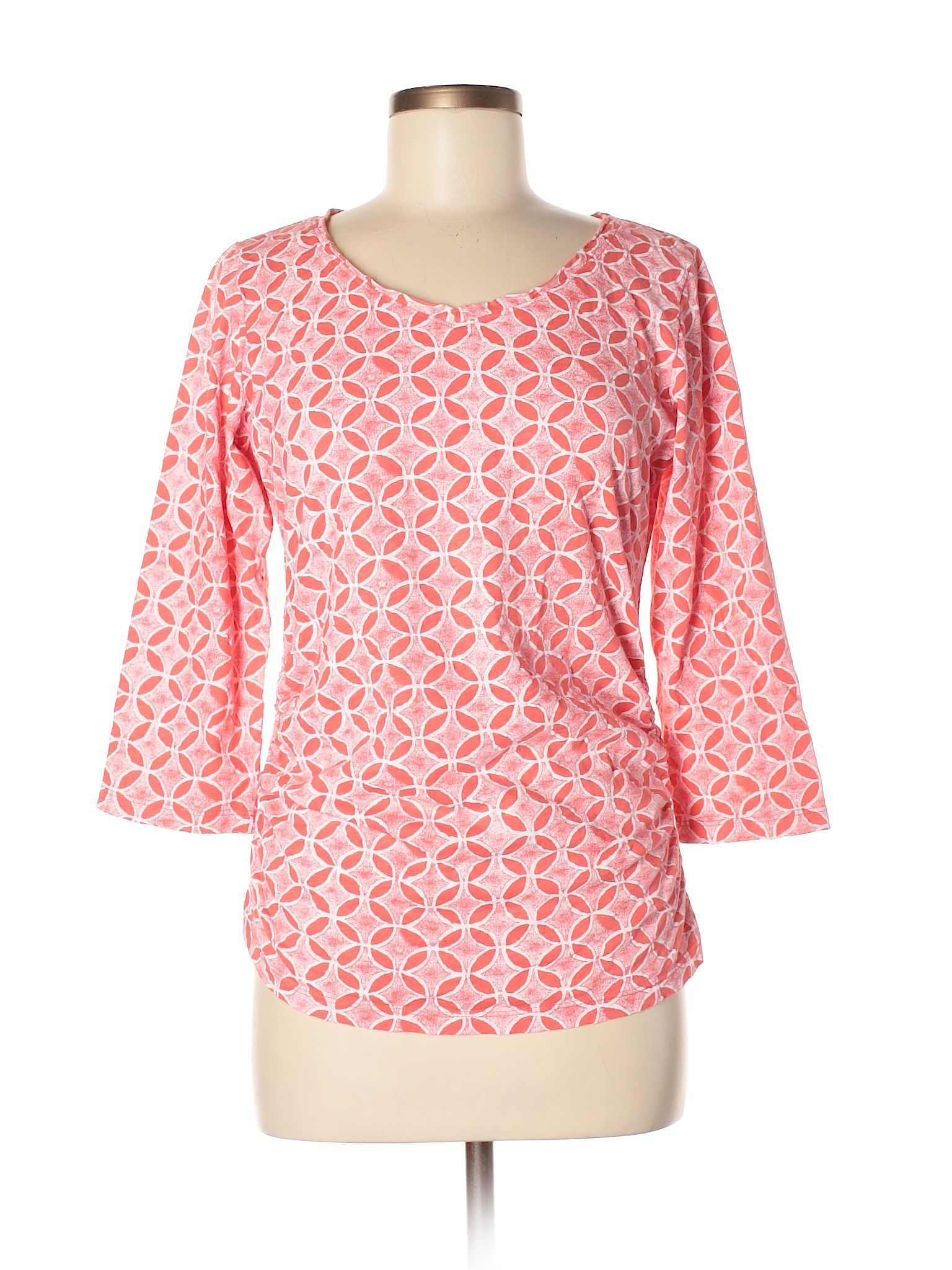 Fresh Produce 34 Sleeve Top Size 800 Coral Womens Tops