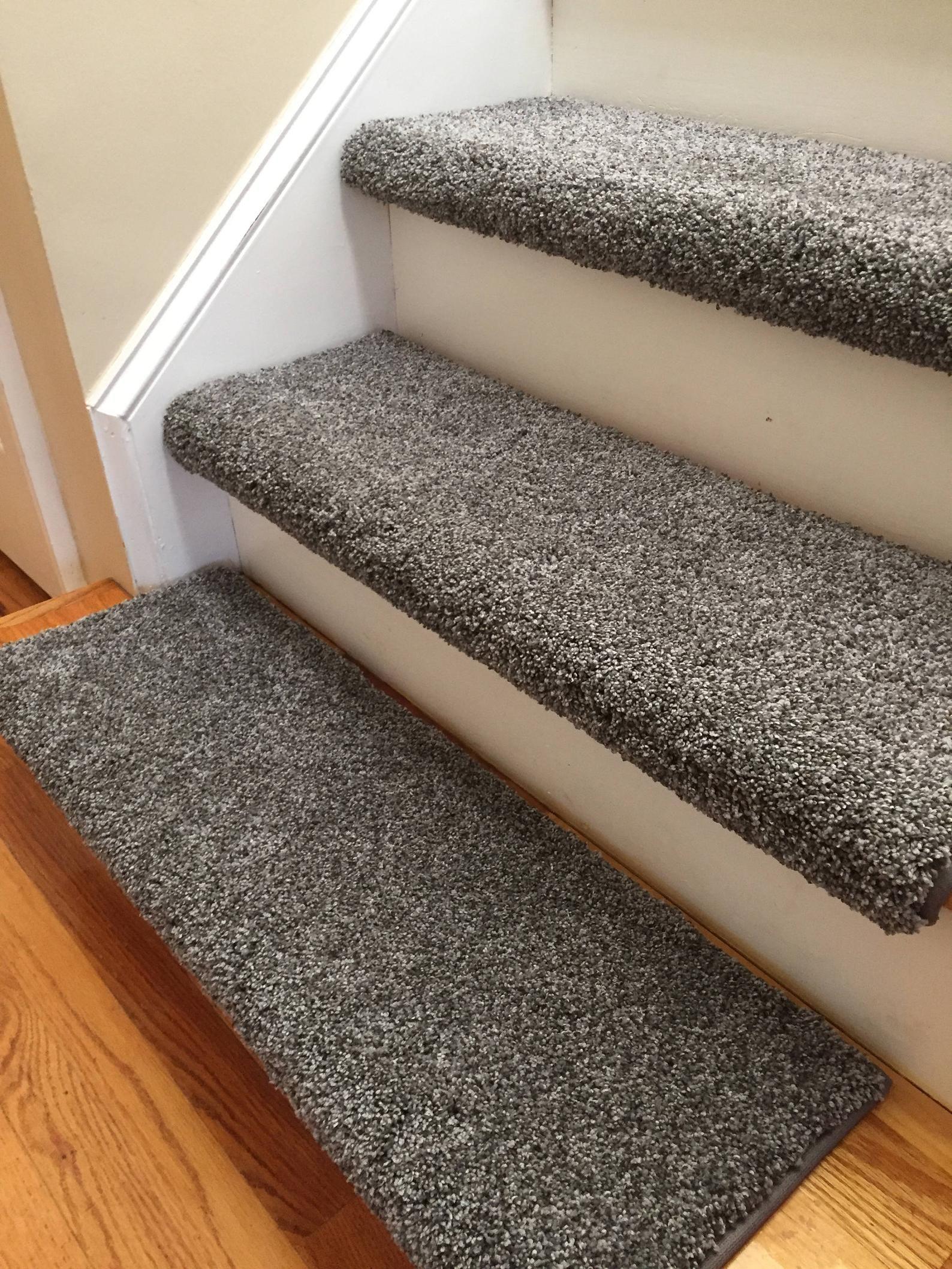 Product Description This Thick Plush Carpet Is Made In The Usa | Plush Carpet Stair Treads | True Bullnose Carpet | Super Soft | Anti Slip | Wool Carpet | Wall Carpet