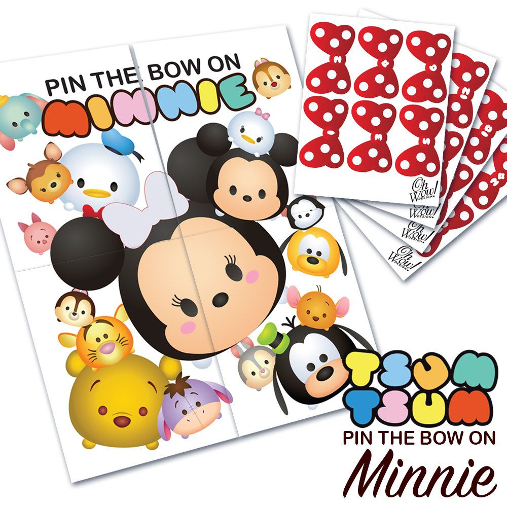 Tsum Tsum Theme: Pin The Bow On Minnie Party Game Digital