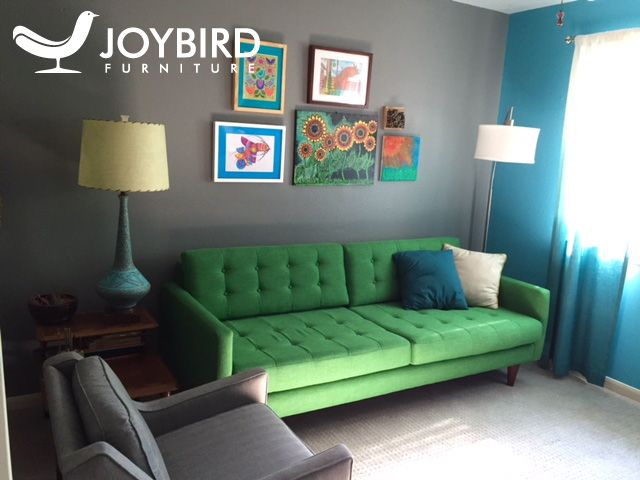 Room Joybird Key Largo Kelly Green