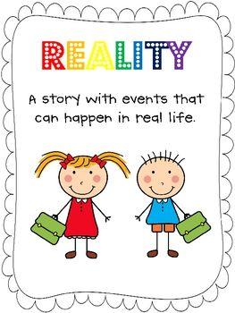 Realism And Fantasy Worksheets For Kindergarten