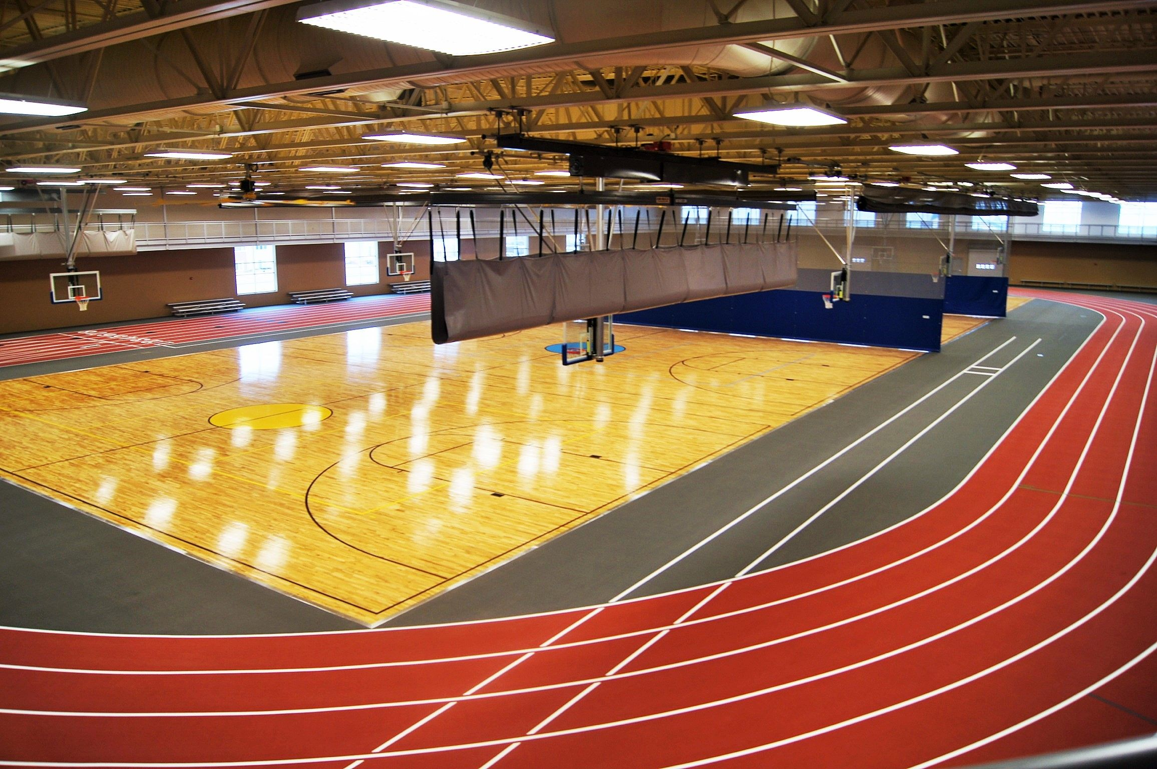 Rec Center Fusion Wood Basketball Court Floor And