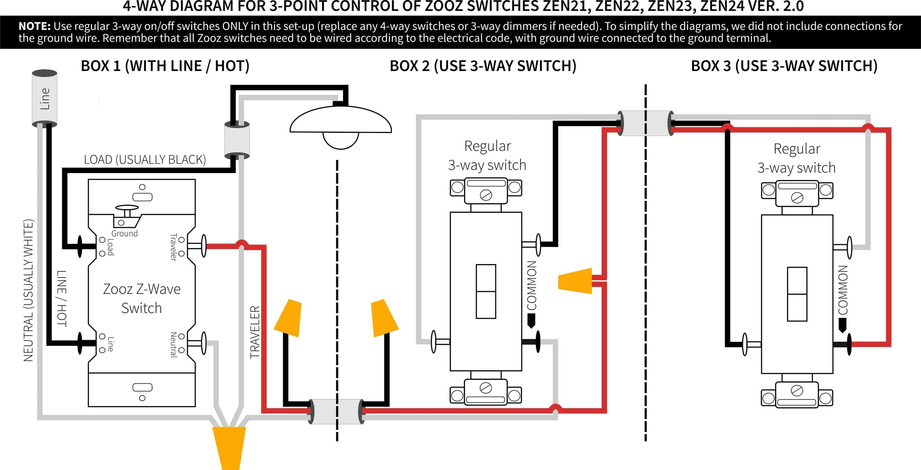 Leviton 4 Way Switch Wiring Diagram In 2020 Light Switch Wiring 3 Way Switch Wiring House Wiring