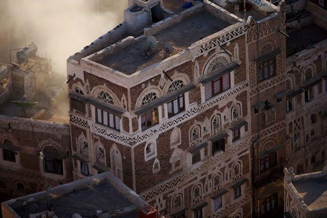 YannArthusBertrand2.org - Fond d écran gratuit à télécharger    Download free wallpaper - Immeuble de la vieille ville de Sanaa (15°21' N – 44°13' E).