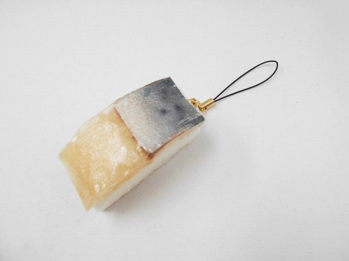 Mackerel Sushi Cell Phone Charm/Zipper Pull