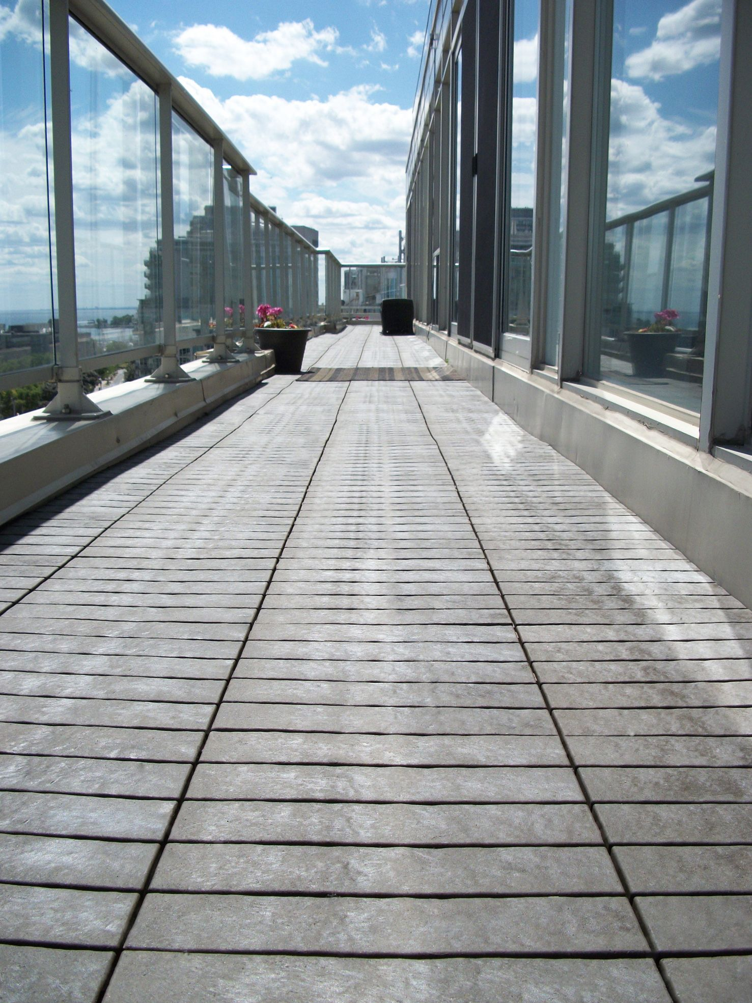 Wonderful Mouse Eye View Of Our Beautiful Coffee Brown Outdoor Floor Decking Tiles. We