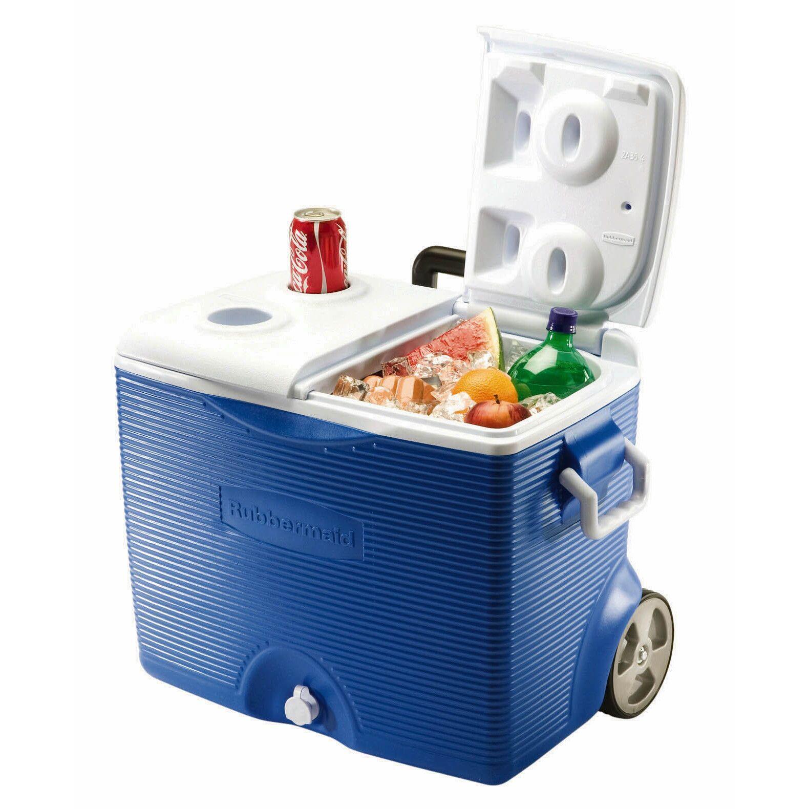 Rubbermaid FG2A9102MODBL 45 Quart Wheeled Cooler Assorted Colors ...