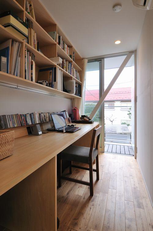 狭いスペースを有効活用!やっぱり欲しい書斎と作り付け収納 ...