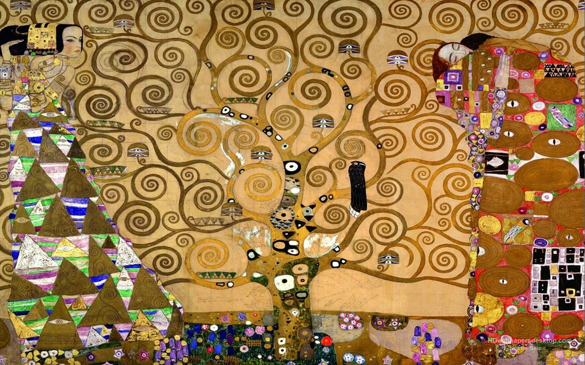 """""""The tree of life"""" or """"The tree of knowledge"""", Gustav Klimt. It is one of the best-known works, and at the same time less views of Gustav Klimt. The work is located in Brussels in the Stoclet Palace, which is private property and is not open to the public, it was declared world heritage by Unesco in 2009. / It's my favorite painting of Klimt."""